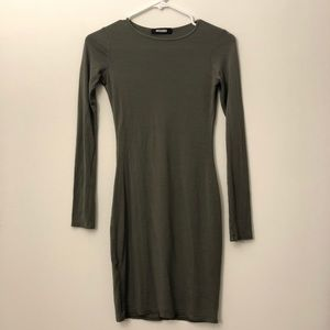 Misguided Olive Long Sleeve Dress